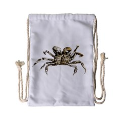 Dark Crab Photo Drawstring Bag (small) by dflcprints