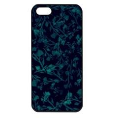 Leaf Pattern Apple Iphone 5 Seamless Case (black) by berwies