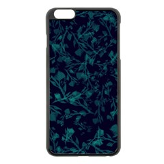 Leaf Pattern Apple Iphone 6 Plus/6s Plus Black Enamel Case by berwies