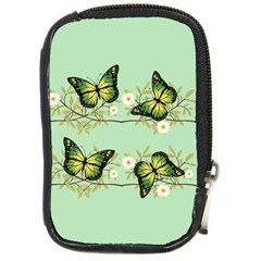 Four Green Butterflies Compact Camera Cases by linceazul
