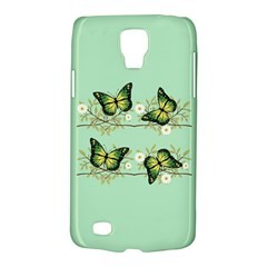 Four Green Butterflies Galaxy S4 Active by linceazul