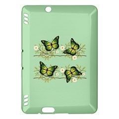 Four Green Butterflies Kindle Fire Hdx Hardshell Case by linceazul