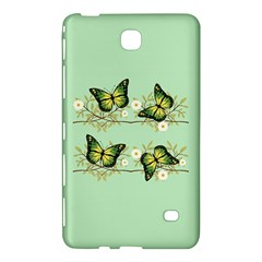 Four Green Butterflies Samsung Galaxy Tab 4 (8 ) Hardshell Case  by linceazul