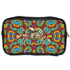 Geometric Multicolored Print Toiletries Bags 2 Side by dflcprints