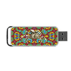 Geometric Multicolored Print Portable Usb Flash (two Sides) by dflcprints