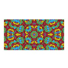 Geometric Multicolored Print Satin Wrap by dflcprintsclothing