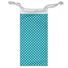 Sleeping Kitties Polka Dots Teal Jewelry Bag by emilyzragz