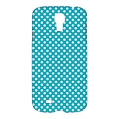 Sleeping Kitties Polka Dots Teal Samsung Galaxy S4 I9500/i9505 Hardshell Case by emilyzragz
