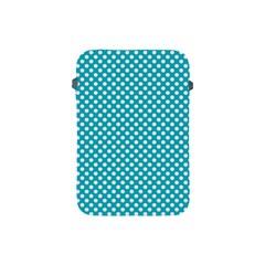 Sleeping Kitties Polka Dots Teal Apple Ipad Mini Protective Soft Cases by emilyzragz