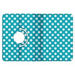 Sleeping Kitties Polka Dots Teal Kindle Fire Hdx Flip 360 Case by emilyzragz