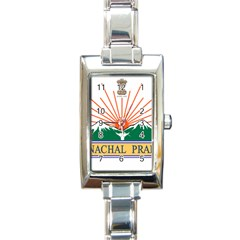 Seal Of Indian State Of Arunachal Pradesh  Rectangle Italian Charm Watch by abbeyz71