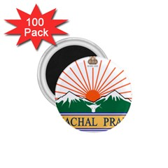 Seal Of Indian State Of Arunachal Pradesh  1 75  Magnets (100 Pack)  by abbeyz71