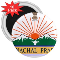 Seal Of Indian State Of Arunachal Pradesh  3  Magnets (10 Pack)  by abbeyz71