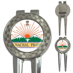 Seal Of Indian State Of Arunachal Pradesh  3 In 1 Golf Divots by abbeyz71