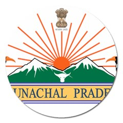 Seal Of Indian State Of Arunachal Pradesh  Magnet 5  (round) by abbeyz71