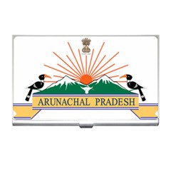 Seal Of Indian State Of Arunachal Pradesh  Business Card Holders by abbeyz71