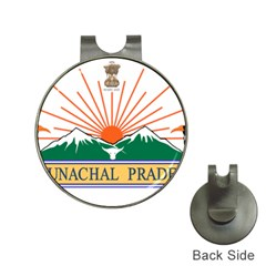 Seal Of Indian State Of Arunachal Pradesh  Hat Clips With Golf Markers by abbeyz71