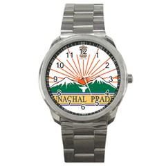 Seal Of Indian State Of Arunachal Pradesh  Sport Metal Watch by abbeyz71