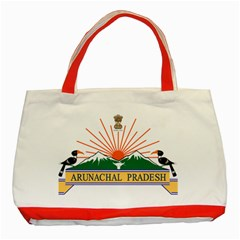 Seal Of Indian State Of Arunachal Pradesh  Classic Tote Bag (red) by abbeyz71
