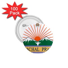 Indian State Of Arunachal Pradesh Seal 1 75  Buttons (100 Pack)  by abbeyz71