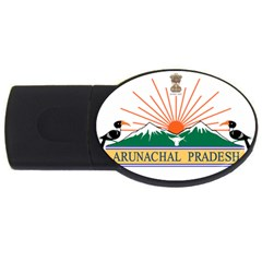 Indian State Of Arunachal Pradesh Seal Usb Flash Drive Oval (2 Gb) by abbeyz71