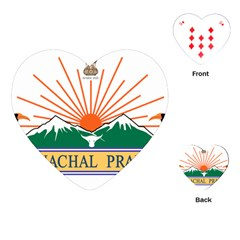 Indian State Of Arunachal Pradesh Seal Playing Cards (heart)  by abbeyz71
