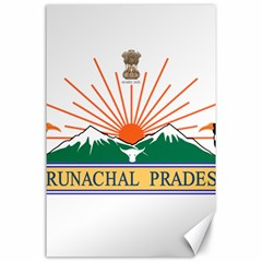 Indian State Of Arunachal Pradesh Seal Canvas 24  X 36  by abbeyz71