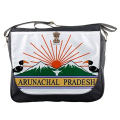 Indian State Of Arunachal Pradesh Seal Messenger Bags by abbeyz71