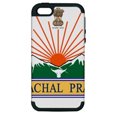 Indian State Of Arunachal Pradesh Seal Apple Iphone 5 Hardshell Case (pc+silicone) by abbeyz71