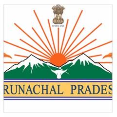 Indian State Of Arunachal Pradesh Seal Large Satin Scarf (square) by abbeyz71