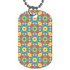 Geometric Multicolored Print Dog Tag (two Sides) by dflcprints