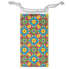 Geometric Multicolored Print Jewelry Bag by dflcprints