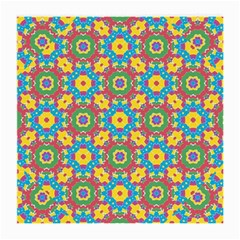 Geometric Multicolored Print Medium Glasses Cloth by dflcprints