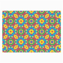 Geometric Multicolored Print Large Glasses Cloth (2 Side) by dflcprints