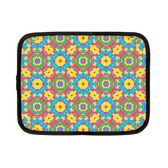 Geometric Multicolored Print Netbook Case (small)  by dflcprints