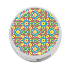 Geometric Multicolored Print 4 Port Usb Hub (one Side) by dflcprints