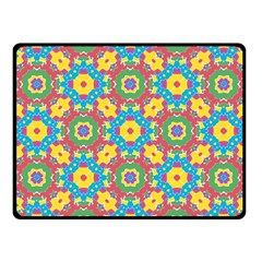 Geometric Multicolored Print Fleece Blanket (small) by dflcprints