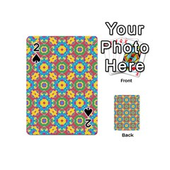 Geometric Multicolored Print Playing Cards 54 (mini)  by dflcprints