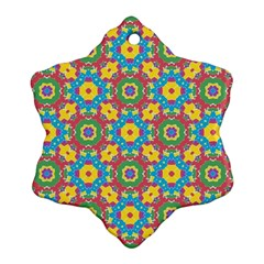Geometric Multicolored Print Ornament (snowflake) by dflcprints