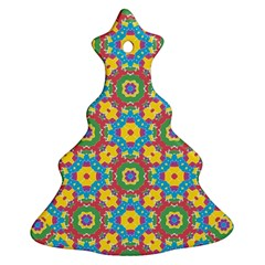 Geometric Multicolored Print Ornament (christmas Tree)  by dflcprints