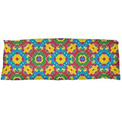 Geometric Multicolored Print Body Pillow Case (dakimakura) by dflcprints
