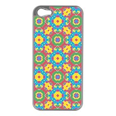Geometric Multicolored Print Apple Iphone 5 Case (silver) by dflcprints