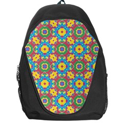 Geometric Multicolored Print Backpack Bag by dflcprints