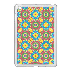 Geometric Multicolored Print Apple Ipad Mini Case (white) by dflcprints