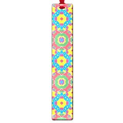 Geometric Multicolored Print Large Book Marks by dflcprints