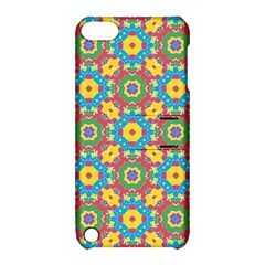 Geometric Multicolored Print Apple Ipod Touch 5 Hardshell Case With Stand by dflcprints