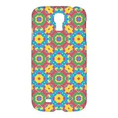 Geometric Multicolored Print Samsung Galaxy S4 I9500/i9505 Hardshell Case by dflcprints