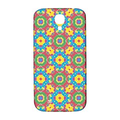 Geometric Multicolored Print Samsung Galaxy S4 I9500/i9505  Hardshell Back Case by dflcprints