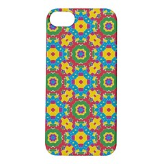 Geometric Multicolored Print Apple Iphone 5s/ Se Hardshell Case by dflcprints