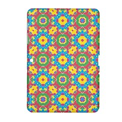 Geometric Multicolored Print Samsung Galaxy Tab 2 (10 1 ) P5100 Hardshell Case  by dflcprints